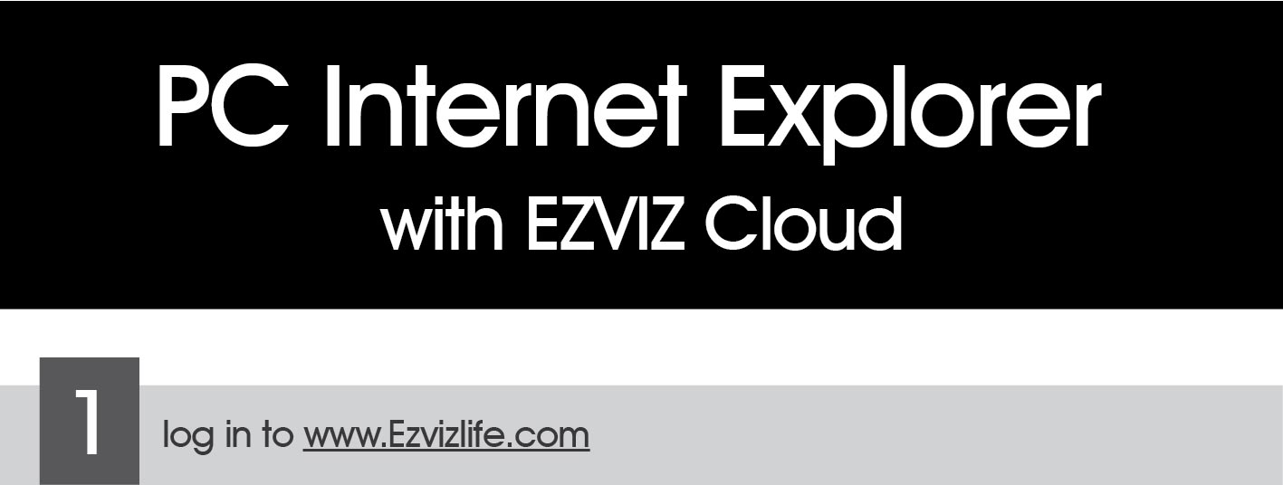 HIKVISION HD TVI-PC Setting Internet Explorer with EZVIZ Cloud